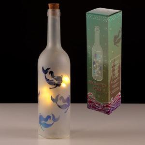 Decorative LED Glass Bottle Light - Mermaid Design