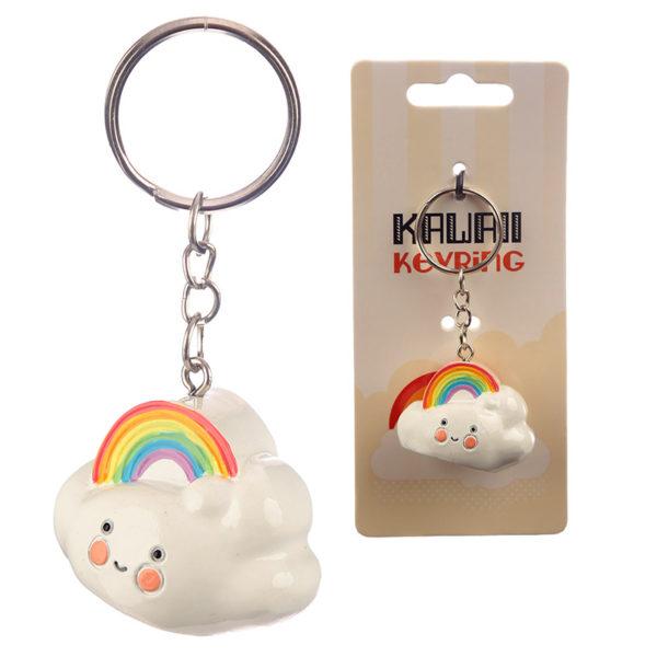 Fun Collectable Kawaii Rainbow Cloud Keyring