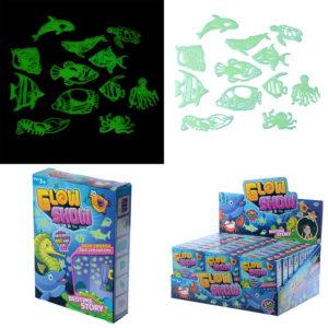 Fun Kids Glow in the Dark Wall Stickers - Fish and Sealife