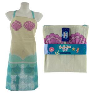 Fun Mermaid Design Poly Cotton Apron