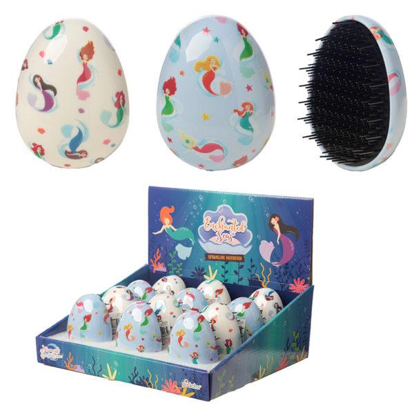Fun Mermaid Design Handy Detangling Hair Brush