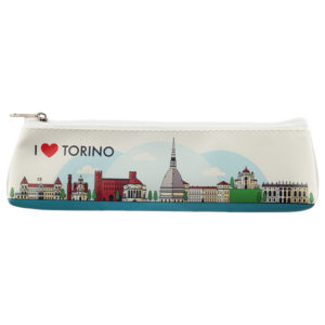 Fun Novelty Pencil Case - I Heart Torino Design