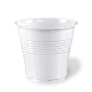 100 White Plastic Disposable Espresso Cups size 80cc100 White Plastic Disposable Espresso Cups size 80cc
