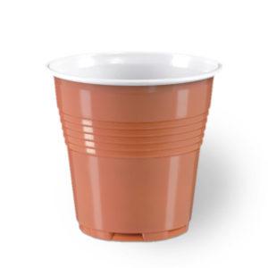 100 Brown Plastic Disposable Espresso Cups size 80cc100 Brown Plastic Disposable Espresso Cups