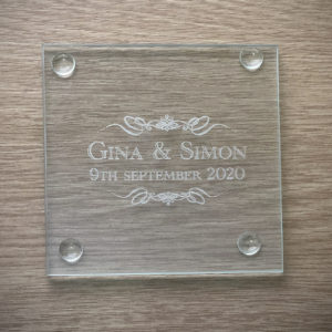 Personalised Engraved Glass Coasters From SolefavorsPersonalised Engraved Glass Coasters From Solefavors