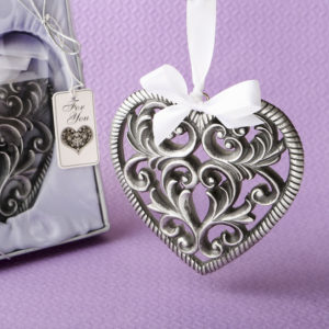Love themed heart shaped ornamentLet family and friends take home loads of Love after your event with this exquisite heart shaped ornament.