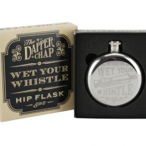 The Dapper Chap 'Wet Your Whistle' 5Oz Hip FlaskThe Dapper Chap 'Wet Your Whistle' 5Oz Hip Flask