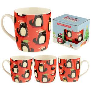 Christmas New Bone China Mug - Feline Festive Cat
