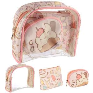 Cute Kawaii Ice Cream Vanity Bag Set of 3