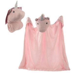 Plush Pink Unicorn Wearable Blanket