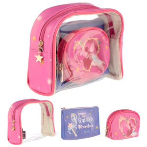 Princess Slogan Vanity Bag Set of 3