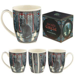 Sacred Circle Cat Lisa Parker New Bone China Mug