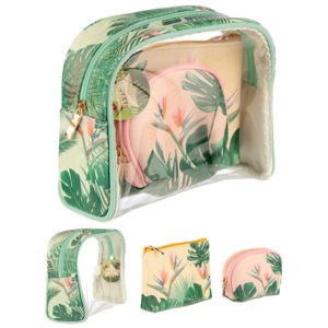 Tropical Paradise Vanity Bag Set of 3