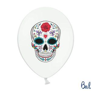 Halloween Balloons 30 cm, Dia de los Muertos, Pastel Pure White 6pcHalloween Balloons 30 cm, Dia de los Muertos, Pastel Pure White 6pc