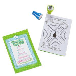 12 Piece Set Children's Wedding Stamper & Notepad12 Piece Set Children's Wedding Stamper & Notepad