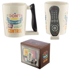 Ceramic TV Remote Shaped Handle Mug