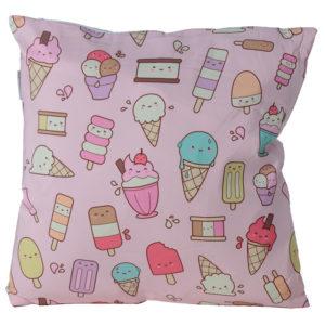 Decorative Cushion with Insert - Kawaii Ice Cream