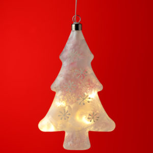 Decorative Hanging LED - Frosted Christmas Tree
