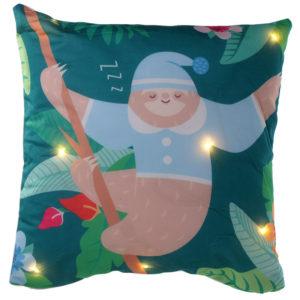 Decorative LED Cushion - Sleepy Sloth