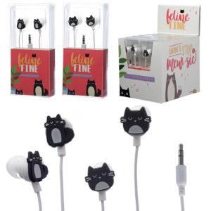 Funky Earphones - Cat Design