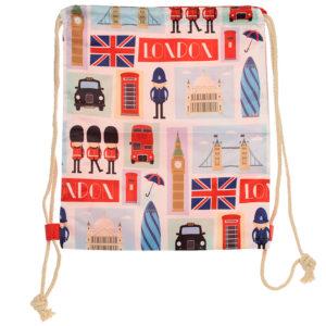 Handy Drawstring Bag - London Icons