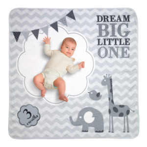 """Dream Big Baby Blanket with Milestone Cards""""Dream Big"""" Baby Blanket with Milestone Cards"""