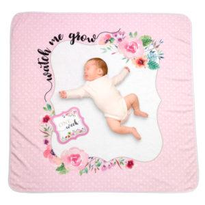 "Watch me Grow Baby Blanket with Milestone Cards""Watch me Grow"" Baby Blanket with Milestone Cards"
