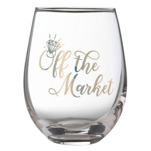 """Off the Market Stemless Wine Glass""""Off the Market"""" Stemless Wine Glass"""