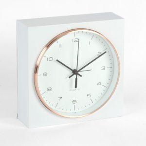 Hometime Square Alarm Clock Gold Bezel 16.5cmHometime Square Alarm Clock Gold Bezel 16.5cm