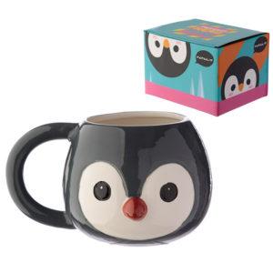 Ceramic Animal Shaped Head Mug - Penguin