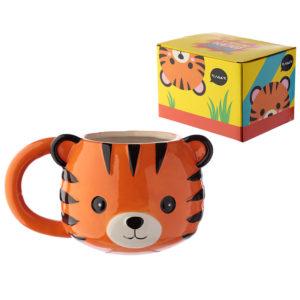 Ceramic Animal Shaped Head Mug - Tiger