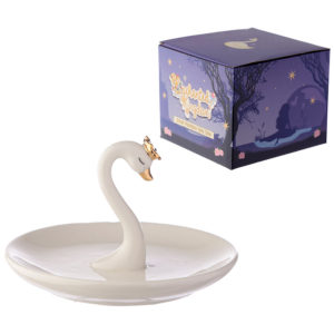 Collectable Swan Princess Trinket Tray and Ring Holder