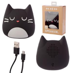 Portable Bluetooth Speaker - Black Cat