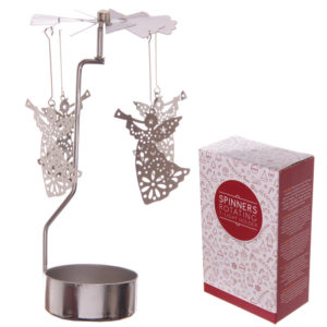 Angel Design Metal Tealight Spinner
