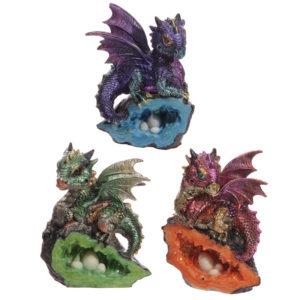 Baby Crystal Cave Cute Dragon Figurine