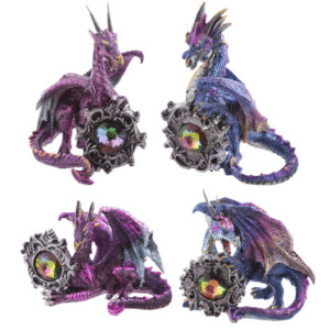 Celtic Gemstone Dark Legends Dragon Figurine