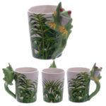 Ceramic Jungle Mug with Tree Frog Handle
