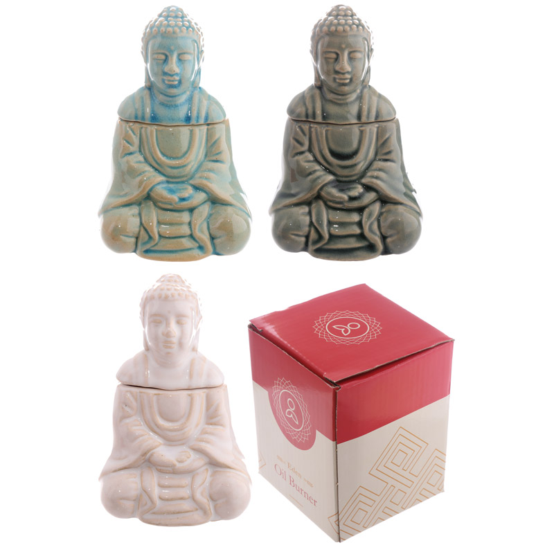 Ceramic Thai Buddha Seated Oil Burner