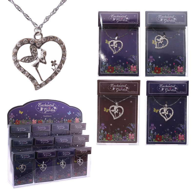 Collectable Enchanted Fairy Garden Pendant Necklace