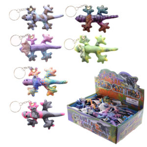 Collectable Frill Neck Lizard Design Sand Animal Keyring