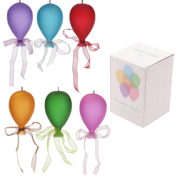 Coloured Balloon Hanging Decoration - Small Matt