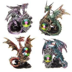 Crystal Shield Fantasy Dragon Collectable Figurine