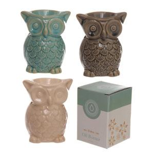 Cute Ceramic Crackle Glazed Owl Design Oil Burner