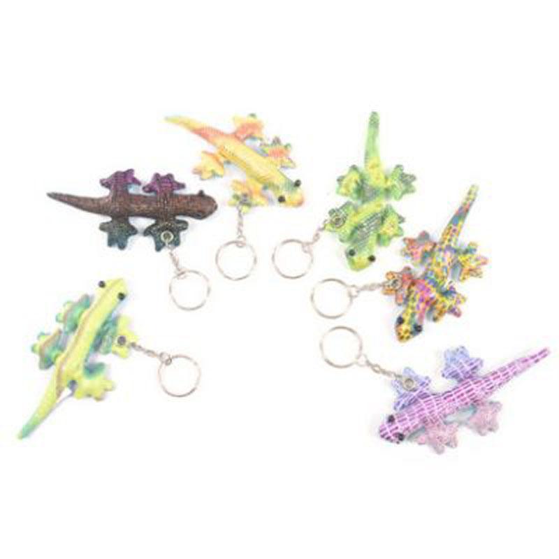 Cute Collectable Gecko Design Sand Animal Keyring