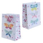 Decorative Butterfly Design Medium Glossy Gift Bag