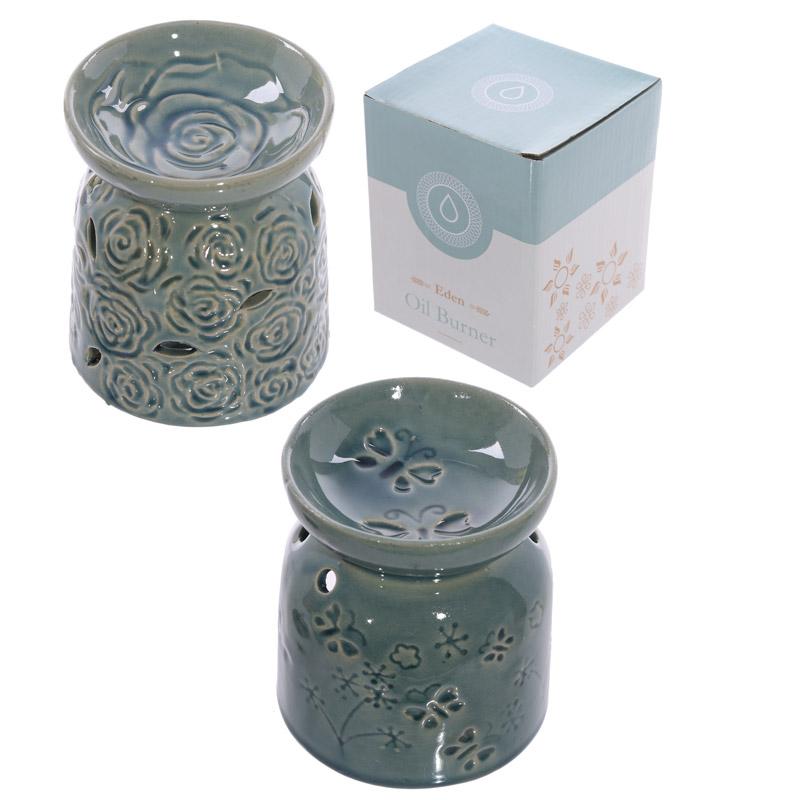 Decorative Ceramic Butterfly and Rose Design Oil Burner