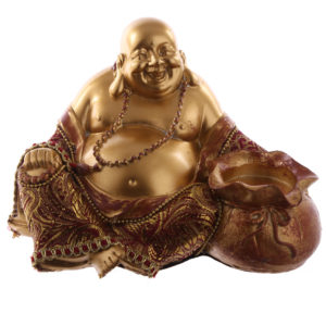 Decorative Chinese Buddha Figurine - Tea Light Holder