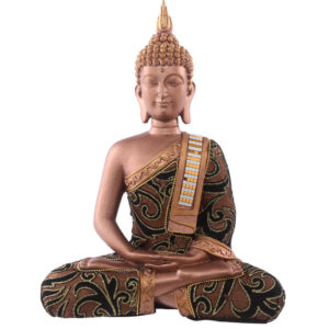 Decorative Fabric Effect Thai Buddha with Sash Large