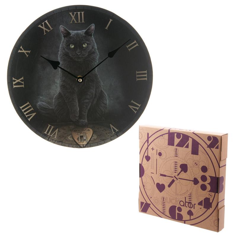 Decorative Fantasy Cat and Ouija Board Wall Clock