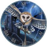 Decorative Fantasy Heart of the Storm Owl Wall Clock